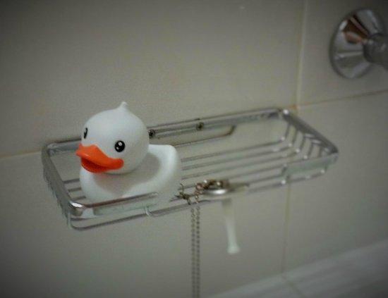 Klaus K Hotel: Cute ducking in bathroom