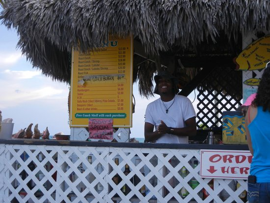 "Tony Macaroni's Conch Experience : ""Kevin"" Such a added touch to Tony's-Beautiful Smile!!"