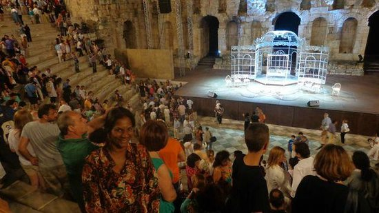 Herod Atticus Odeon : End of performance