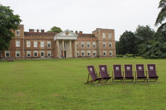 The Vyne: House and lawns with deck chairs to use