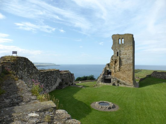 Scarborough Castle: part of the castle
