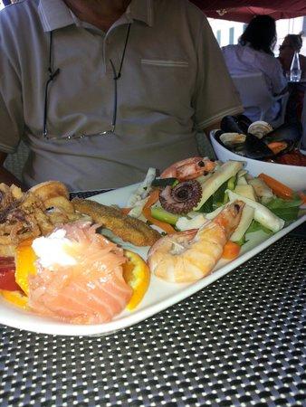 Caffe' Ginori : Antipasto misto di mare ...buono..ricco e ben presentato