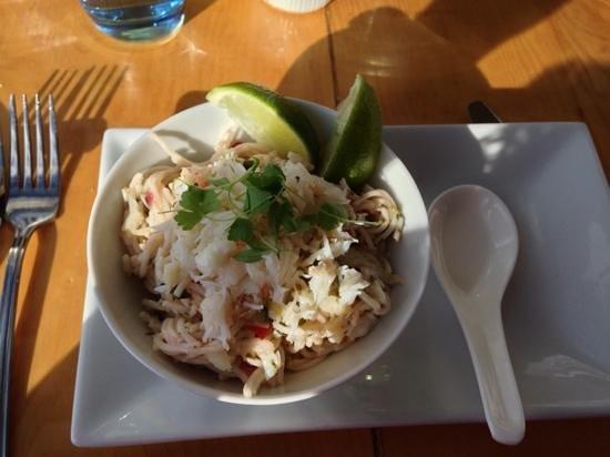 Seafood Temple: crab noodle salad