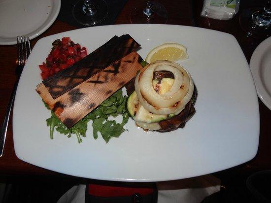 Aqua Seafood Restaurant and Bar: Cedar grilled salmon
