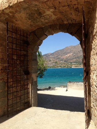 Spinalonga (Kalydon): view to Crete from Spinalonga