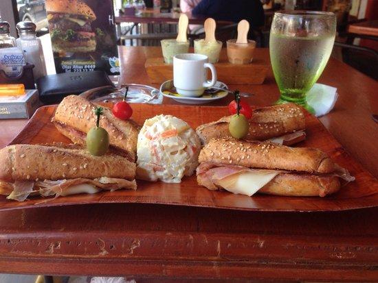 San Angel Cafe: Spanish procciuto baguete