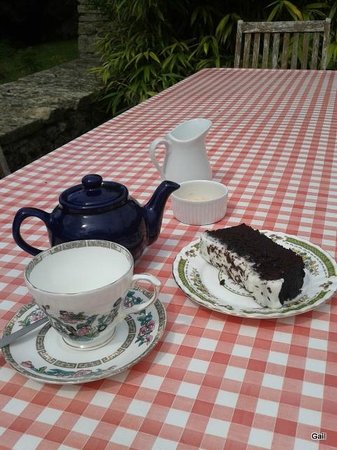 The Walled Garden at Mells: Delicious Chocolate Guinness cake