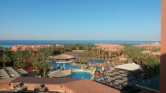 Club Magic Life Sharm el Sheikh Imperial : A view of the activity pool from the tower