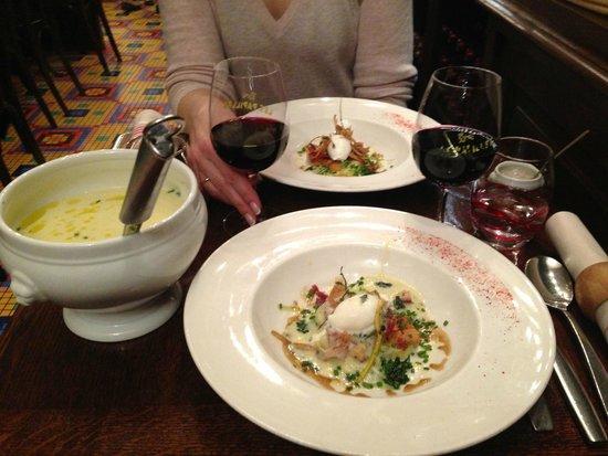 Les Papilles : Протертый картофельный суп с беконом и сливками