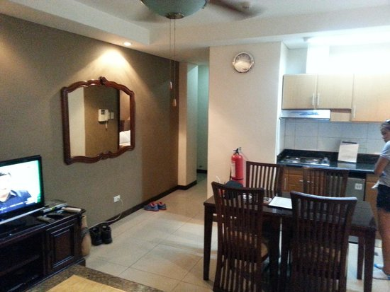 Affinity Condo Resort : kitchen/living room