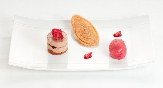 Hôtel-Restaurant Nougier : Choco-framboise