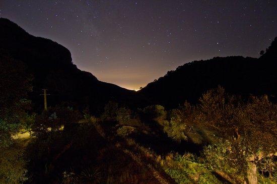 S'Era Vella: View at night looking towards Bunyola and Palma de Mallorca