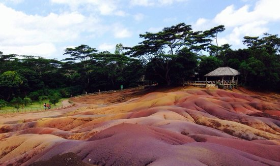 Seven Colored Earths: COLOURFUL! - the view that afternoon!