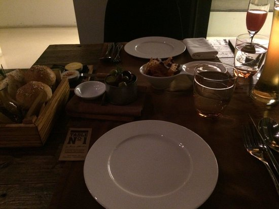 Table No. 1: Selection of bread was very nice
