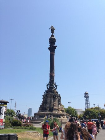 Columbus Monument: Make sure you find the door and climb to the top