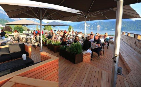 Restaurant Alpenblick: Herrliche Stimmung mit bester Panoramasicht