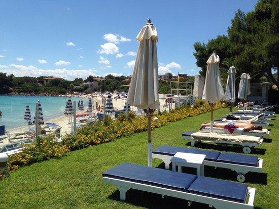 The Pelican Beach Resort & Spa - Adults Only : Giardino difronte al ristorante