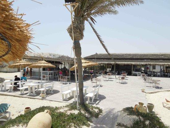Seabel Rym Beach : Bar et terrasse de la plage