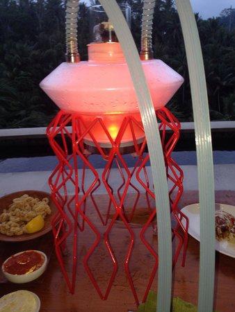 Four Seasons Resort Bali at Sayan: U got to try this sheesha in the bar at sunset with some calamari