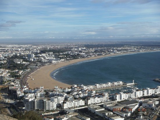 Caribbean Village Agador : The view of the city and the beach from Agadir Oufella