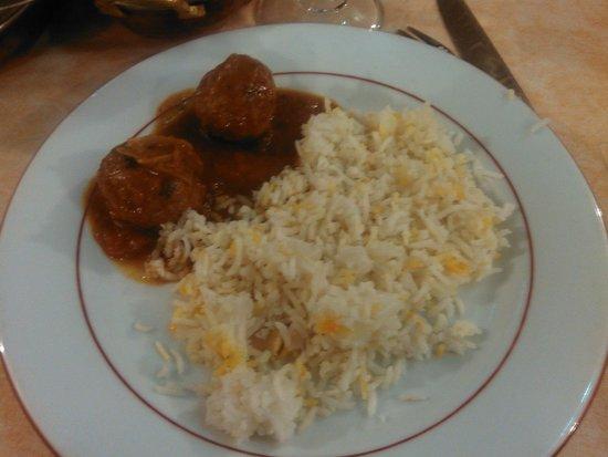 Koh-I-Noor : boeuf kofta massala riz safran