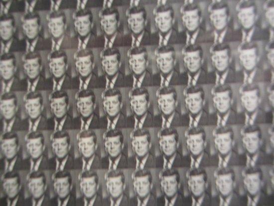 The Sixth Floor Museum/Texas School Book Depository: 50,000 iny photos of JFK make up Jackie's portrait