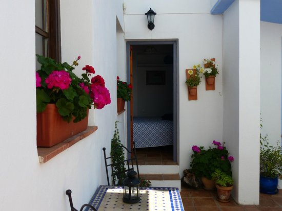Casita de la Vaca: View of your own, privately-accessed, front door from the courtyard