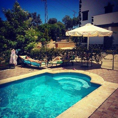 Alojamientos Rurales Berrocal: Tomando el sol, en nuestra piscina con depuración salina