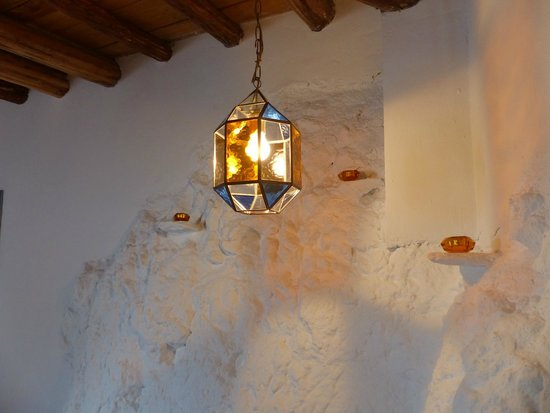 moroccan inspired lighting. casita de la vaca moroccan inspired lighting adds to the unusual feature wall