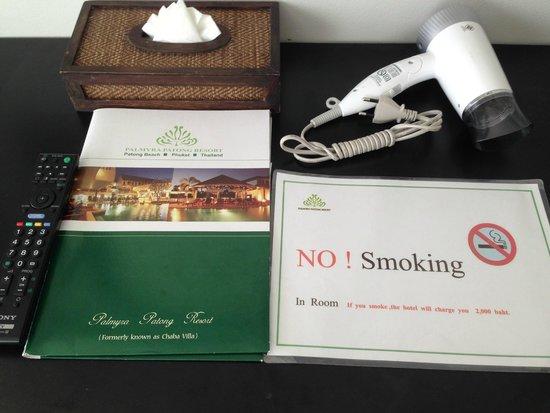 Palmyra Patong Resort: เอกสารที่ทางโรงแรมจัดเตรียมให้
