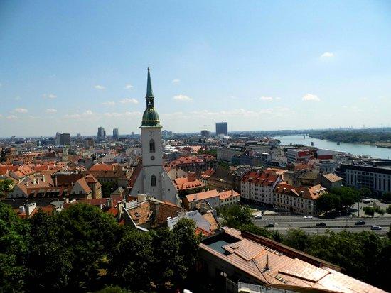 Casco antiguo: Old Town from Bratislava Castle