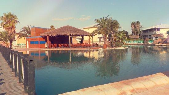 PortAventura Hotel Caribe: Palmiers et sable fin