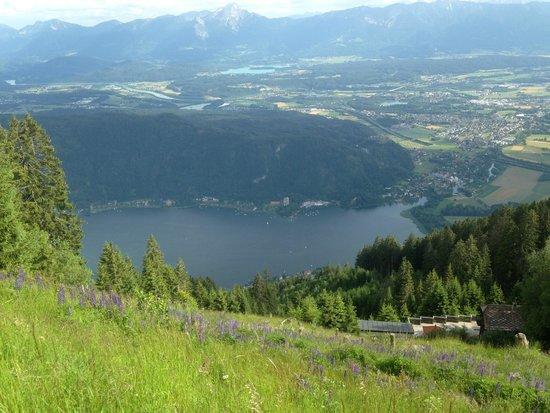 Sonnenhotel Zaubek: Aussicht zum Ossiacher See neben dem Hotel aufgenommen