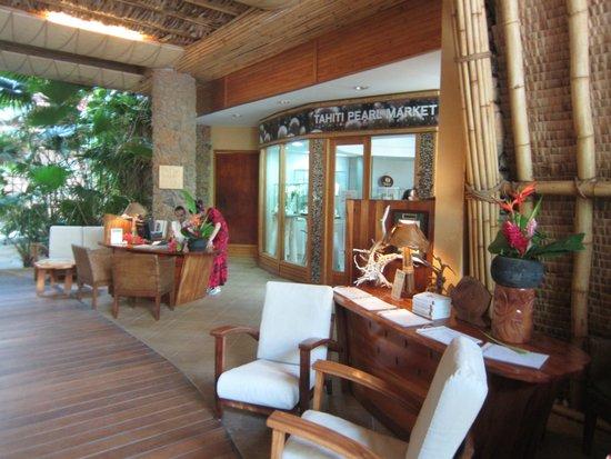 Le Taha'a Island Resort & Spa : Réception