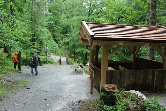Weissbach bei Lofer, Austria: Rest hut at the end of gorge walk