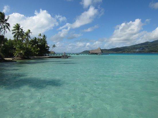 Le Taha'a Island Resort & Spa: Plage