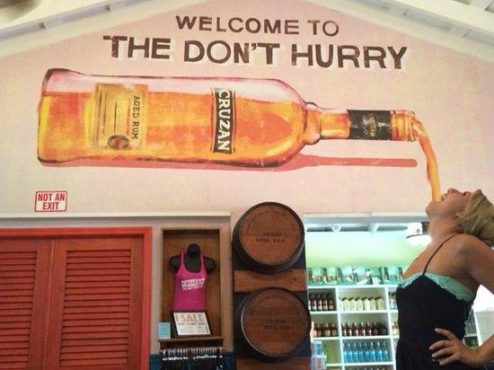 Cruzan Rum Distillery: Plenty of rum at Cruzan!