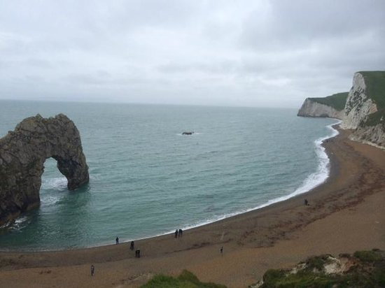 Durdle Door Holiday Park : The view from the bottom of the park