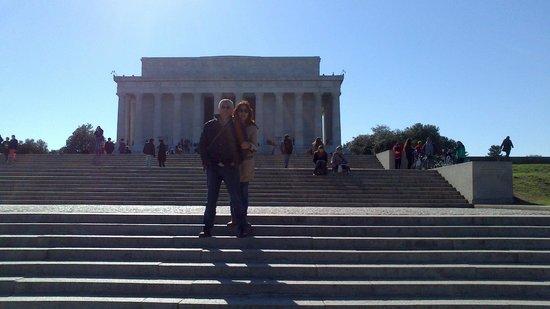 Piscina reflectante del monumento a Lincoln: nosotros en el monumento