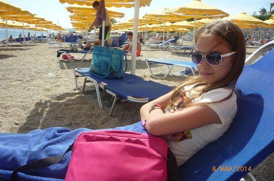 Mitsis Norida Beach Hotel: Пляж