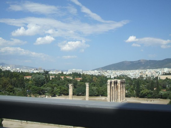 The Athens Gate Hotel: View from the rooftop patio