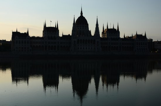 art'otel budapest: View of parliament, just outside hotel