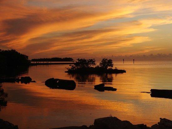 Keys Fisheries : taken from the restauant dock at sunset
