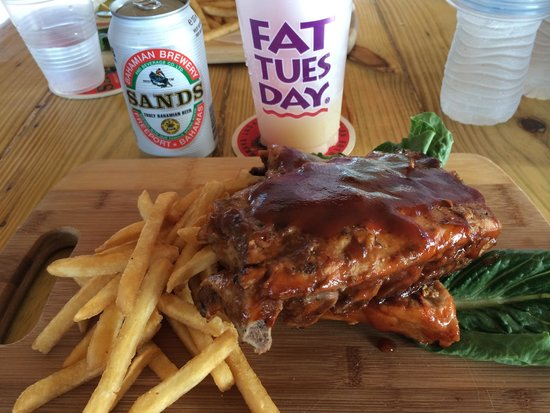 Fat Tuesday Nassau Bahamas : Nice ribs