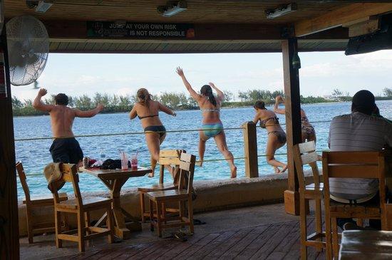 Fat Tuesday Nassau Bahamas: Yes, you can take a swim