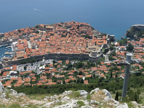 Funiculaire de Dubrovnik : Vue de Dubrovnik