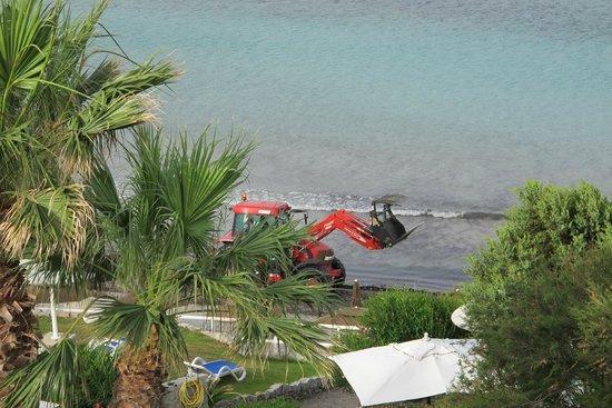 Hotel Stella Maris : Clearing the beach