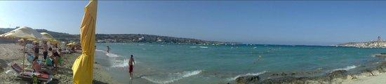 Mellieha Beach : Пляж в заливе Меллиха