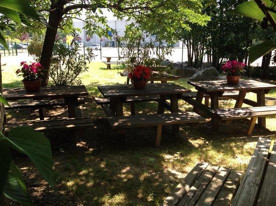 Restaurant Iroko Grill's : la terrasse du jardin
