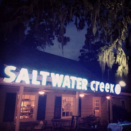 Salt Water Creek: A nice place to eat with the family.
